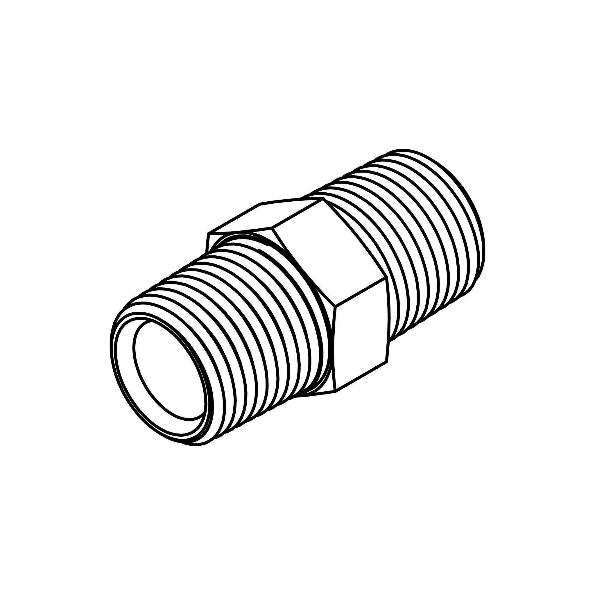 MNPT-MNPT Adpt 3//8-18x1//4-18 Hex Nipple